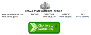 Download Kerala State Lotteries Result